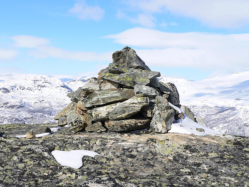 Stones on mountain top