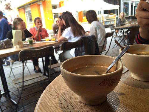 ベルギーのカフェ