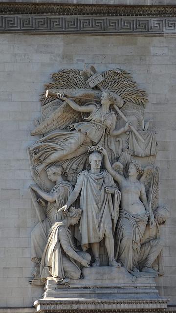 パリ凱旋門の彫刻