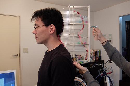 頭の形を計測