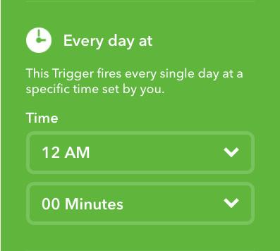 時間の指定