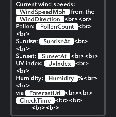 天気予報を記録する