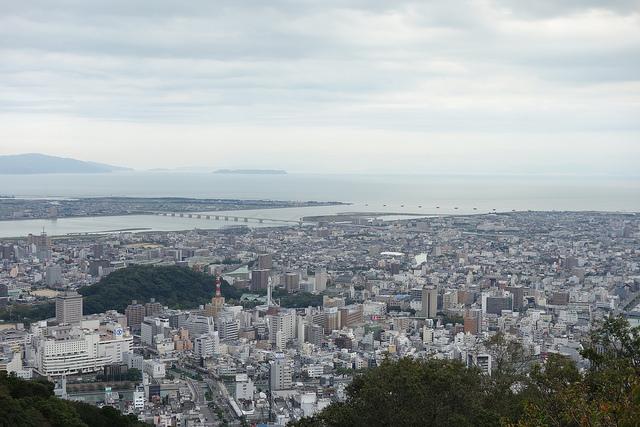 眉山山頂からの眺め