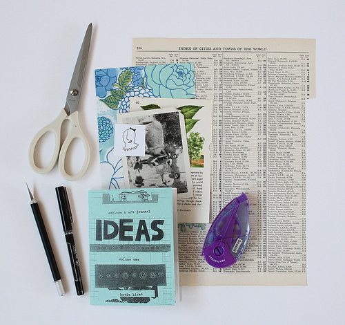 collage & art journal ideas zine