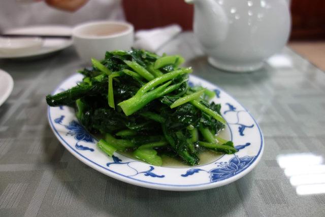 沁園春の青菜炒め